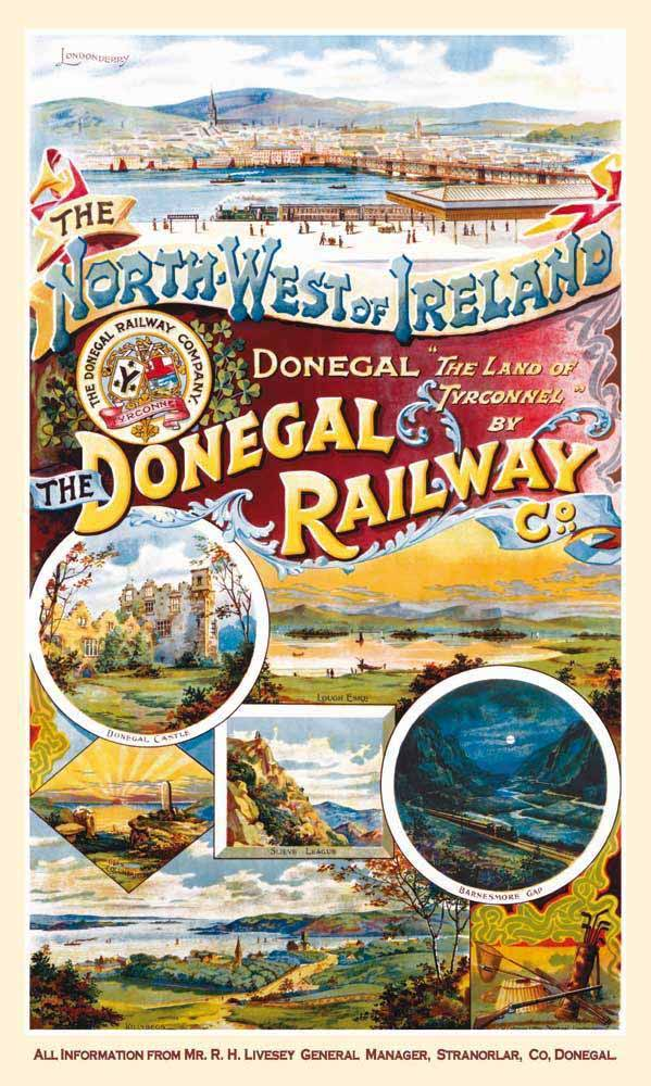 Donegal Railway Travel Poster