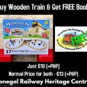 Wooden Train & Drumboe Book