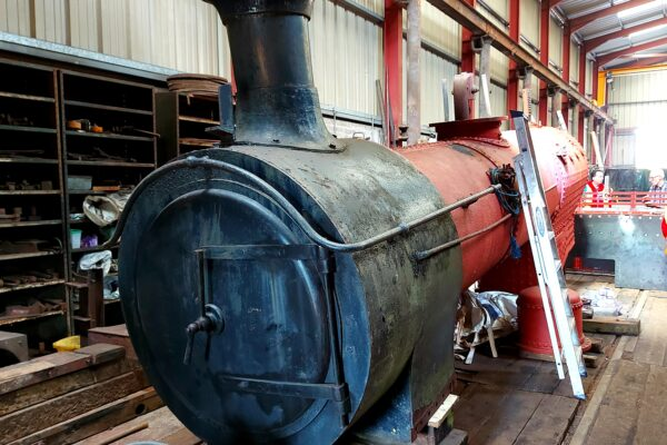 Drumboe, the Donegal Steam Engine under restoration, June 2021